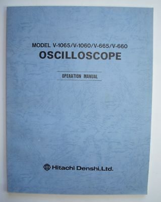 Hitachi V-1065 Oscilloscope Operation Manual (1091 1468)