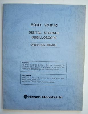 Hitachi VC-6145 Digital Storage Oscilloscope Operation Manual (7088 1763)