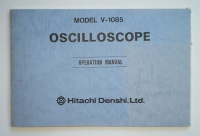 Hitachi V-1085 Oscilloscope Operation Manual (6744 1622)