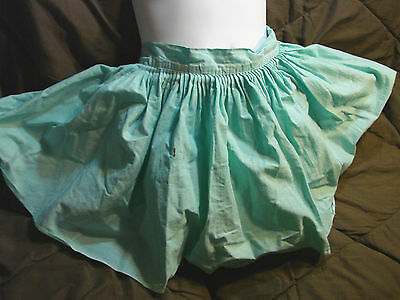Vintage 50s Girls Childs Skirt BLOOMERS 6 Aqua Blue Spring Cotton Skort