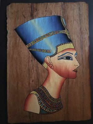 High quality genuine Hand Painted Egyptian Papyrus Queen Nefertity