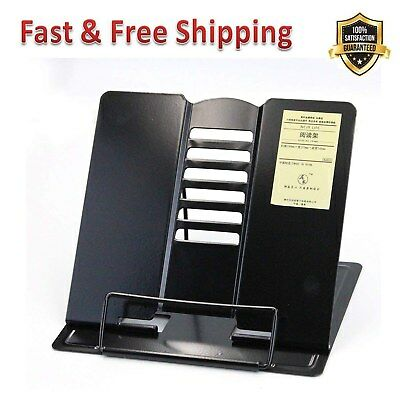 Reading Rest Book Holder Stand Bookrest Angle Adjustable Durable Portable Steel