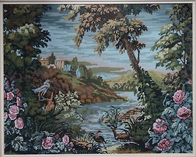 Large Woolwork Completed Picture / Tapestry