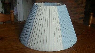 Plastic ribbon blue & white lamp shade suitable for Barsony lamp etc - look
