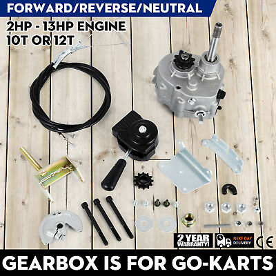 Go Kart Forward Reverse Gear box Fits 2HP - 13HP Engine 41P 10T or 12T TAV30