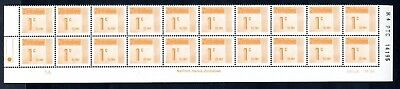 1985 ZIMBABWE POSTAGE DUE REPRINT R4 1c Bottom 2 Rows 1A  D28 UNC