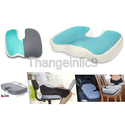 Dr. Flink Coccyx Seat Cushion Pillow Gel-Enhanced - Memory Foam Quality Comfo...