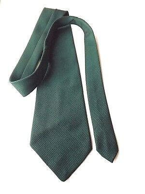 Vintage WIDE KIPPER Neck Tie 1970s 4.75 Inch Blade Green Textured FREE P&P