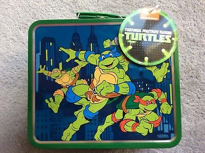 Teenage Mutant Ninja Turtles Lunch Box Tin Tote Lunchbox New with Tags