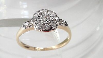 Antique/Art Deco 18Ct Yellow Gold And Platinum Diamond Ring!