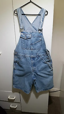 1980s/1990s Guess light blue overall shorts (size medium)