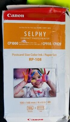 Canon RP-108 Color Ink/Paper Set, 108 Sheets for SELPHY CP820, CP910, CP1200