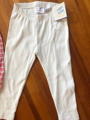 Hanna Andersson Capri Leggings Girls Size 130 (8) Off White Ribbed NWT