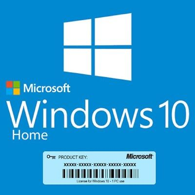 Windows 10 Home 32/64bit Genuine Product Key License Activation INSTANT DELIVERY