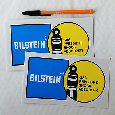 Bilstein Bilstien stickers decal 163mm pair Motor Race Rally Rallying ..