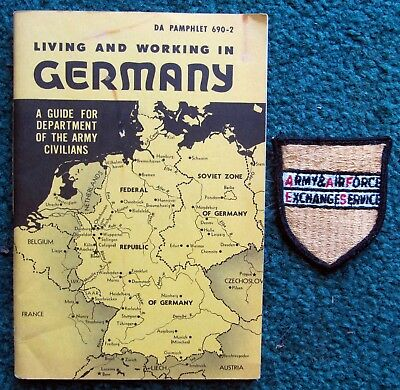 Federal Republic Of W. Germany Us Army Da Pam Living/working Guide For Civilians