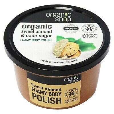 ORGANIC SHOP - Body Polish alle Mandorle Dolci, Esfoliante 99,99% Naturale 250ml