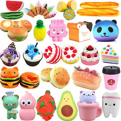 Jumbo Slow Rising Squishies Scented Charms Squishy Squeeze Toy Ornament Lot SE