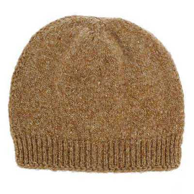 MAISON MARGIELA knitted camel beanie beige Hair brown MM14 hat Donegal Wool bd2fd81ee43f