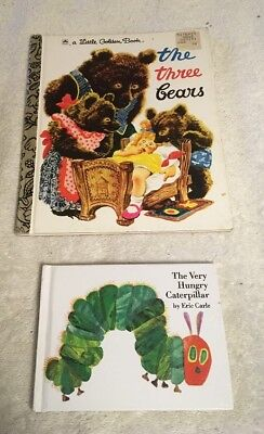 The Very Hungry Caterpillar by Eric Carle and The Three Bears, Little Golden Bk