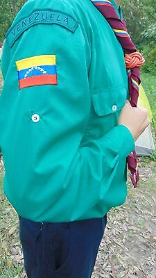 15Th World Scout Moot Iceland - Venezuelan Contingent shirt, scarf and badge