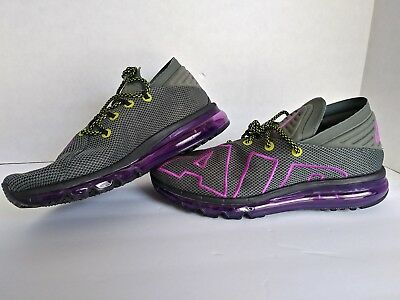 0ef1af8fca9db7 NEW sz 10 Men s Nike Air Max Flair Up Tempo Running Gray Purple Vol AH9711-