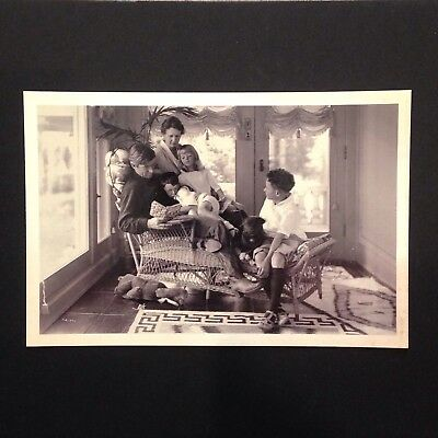 Will Rogers Reading To His Family Claremore Oklahoma Postcard