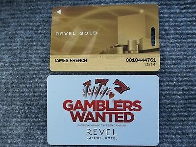 REVEL Casino  AC Atlantic city Gold Player card & Room Key MINT condition