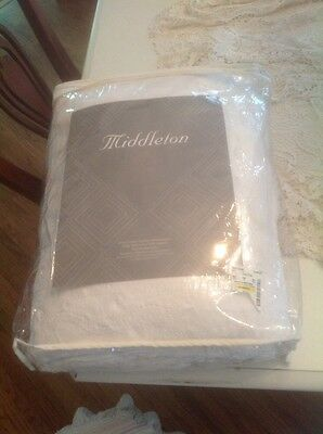 """Nos Natural Color Full/queen Sz Fringed Matalasse Coverlet/spread~88 X 92"""""""