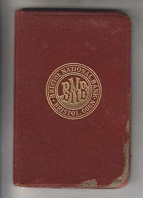 1918 Memoranda Notebook - Bristol National Bank - Bristol Connecticut