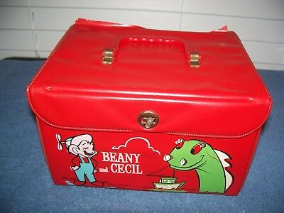 Vintage 1961 Bob Clampett Beany & Cecil Vinyl Lunchbox Case