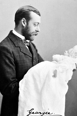 New 5x7 Photo: Future King George V of Great Britain with Future Edward VIII