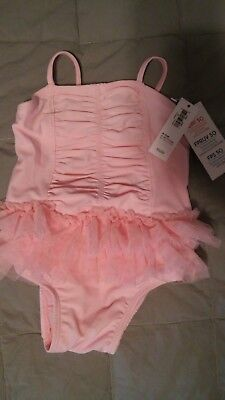old navy girls size 6-12month pink tutu swimsuit