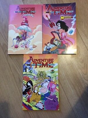 3 Adventure Time Graphic Novels - feat Fionna & Cake & Marceline Free Postage