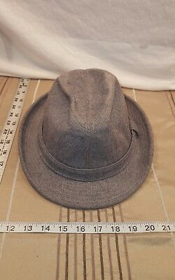 9ecedc706b0d1 Vintage Pendleton Fedora hat 100% Virgin Wool USA Men s Solid Gray Size 7 3