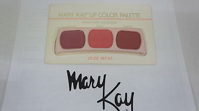 🍀 NEW RARE VINTAGE ‡ Mary Kay Lip Color Trio Palette Warm Ivory Collection 0487