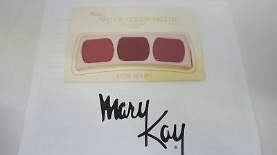 🍀 ‡ NEW RARE VINTAGE ‡ Mary Kay Lip Color Trio Palette Great Fashion Roses 0473