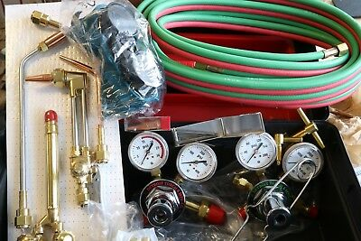 Detroit Torch Oxy Fuel Cutting Welding Brazing Heating Gauges / Tips / Hoses Kit