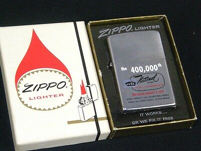 1971 Zippo lighter 400000 Homes built National Homes Unfired Boxed 2 Sided