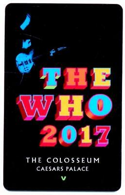 CAESARS PALACE casino*THE WHO super star rock band*Las Vegas hotel key card# 30