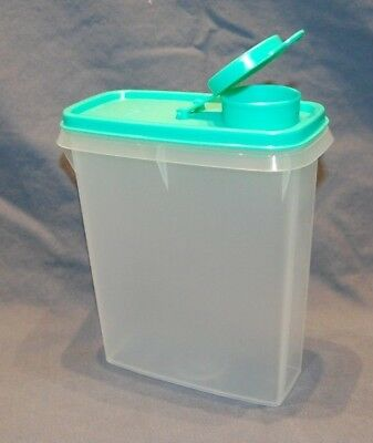 Tupperware NEW Jr. Cereal Storer - 3.5 Cup BRAND NEW Turquoise