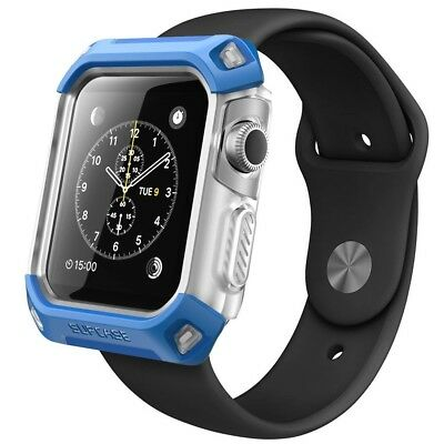 SUPCASE Blue Unicorn Beetle Pro Flexible Case with Band for Apple Watch 38mm