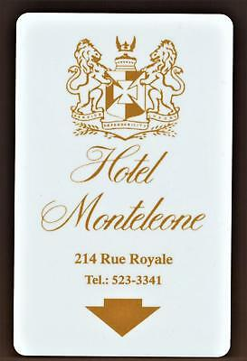THE HOTEL MONTELEONE* New Orleans Louisiana* key card Fast Safe Shipping # 76