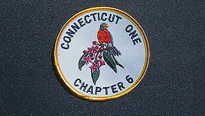 Vintage Connecticut One - Chapter 6 -  Robin State Bird - Round Patch