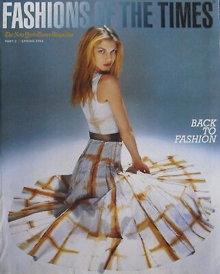 ANGELA LINDVALL Spring 2004 NEW YORK FASHIONS OF THE TIMES Magazine