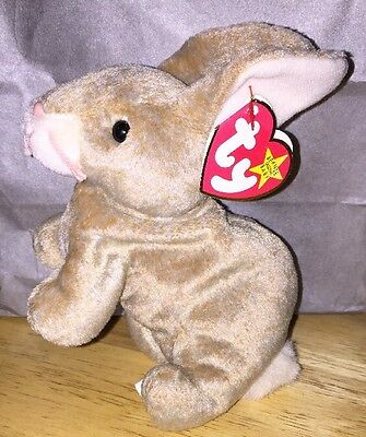 TY Beanie Baby Nibbly Bunny Rabbit May 7 1998 Eater Plush Animal