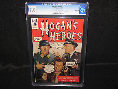 Hogan's Heroes Dell Comic Book #9 Grade 7.0 FN/VF With Acrylic Display Stand