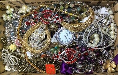 Huge Vintage - Now Jewelry Lot Estate Find Junk Drawer UNSEARCHED UNTESTED #471