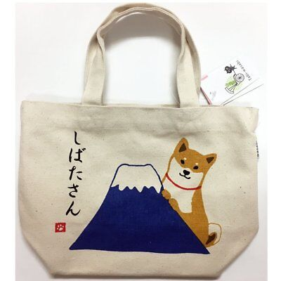 Shiba inu Shibatasan dog cotton mini Tote bag Mt.Fuji  free shipping Japan