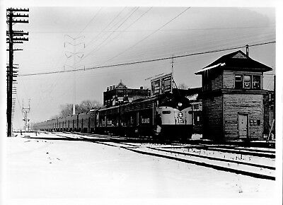 1970 Rock Island Train in the Snow Engine 5x7 Railroad Station Photo X2200S D